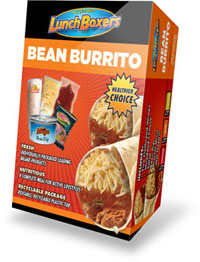 LunchBoxers(TM) Bean Burrito
